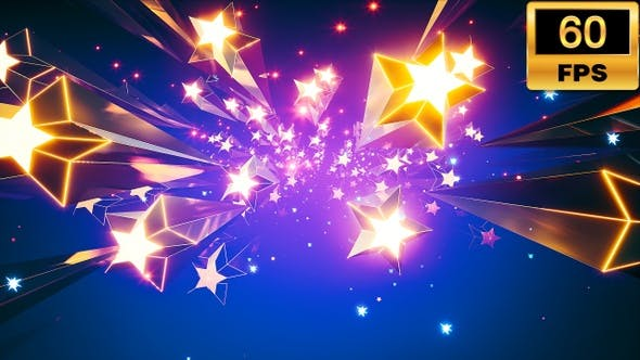 Falling Stars Background 60fps by WashirvinG | VideoHive