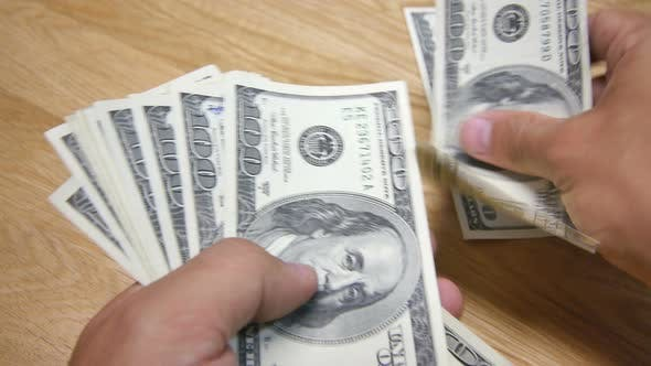 Bucks Dollar USD 100 $ Count by palnoise | VideoHive