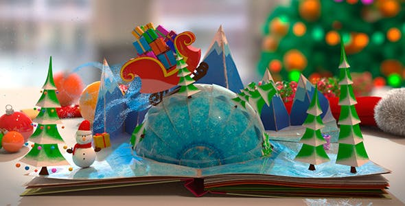 Christmas Pop-Up Book by The_Yoshivara | VideoHive
