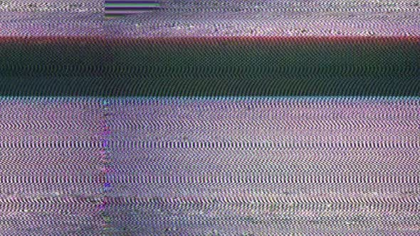 Glitch TV Static Noise Distorted Signal Problems by