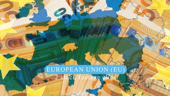 European Union Map over 50 Euros Banknotes by steve314