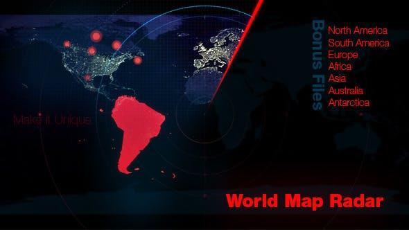 Map Of Australia Radar.World Map Radar By Studio 21 Videohive