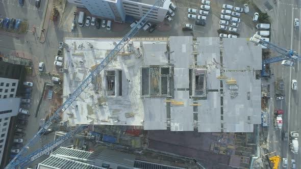 Urban Office Concrete Building Construction Site In Business Park