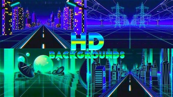 80's Retro Futuristic Background Pack vol 3 by abramidze