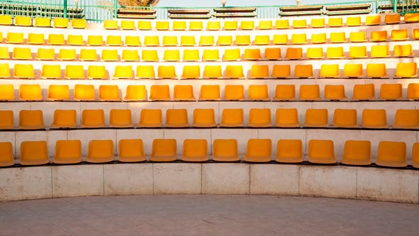 Outdoor Stage With Empty Seats Stock Footage