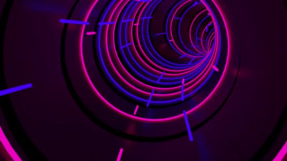 Running In Neon Light Tunnel 03 HD by urzine | VideoHive