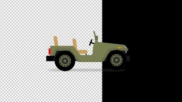 Jeep Cartoon By Lakmalvfx Videohive