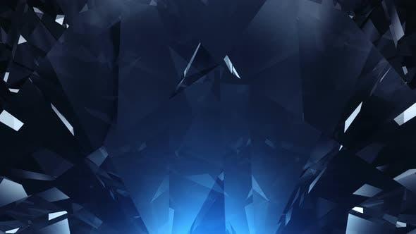Blue Diamond Background Loop By 123dartist | VideoHive