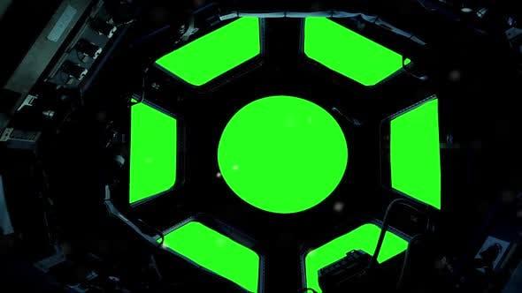 International Space Station  Green Screen Window  by