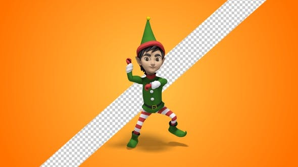 Dancing Christmas Elf By Se5d Videohive