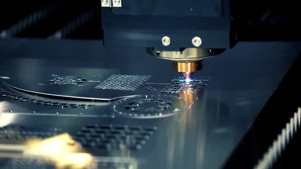 CNC Laser Cutting of Metal, Modern Industrial Technology by