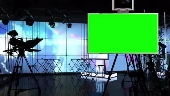 Virtual Studio Background In Green Screen Video Effects