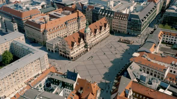 Historical Market Square In Leipzig By A Medvedkov Videohive