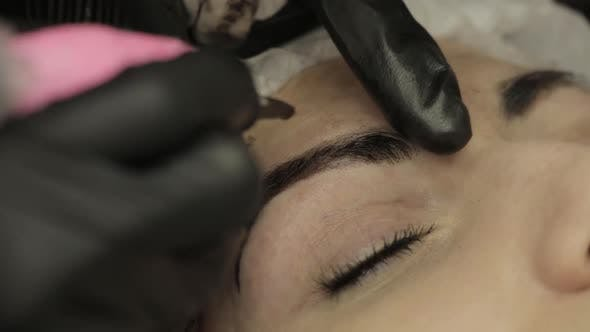 Microblading Procedure  Master Cosmetologist Draws and Notes
