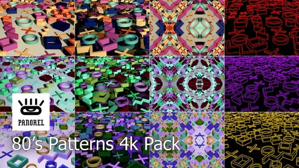 80's Patterns Video Pack by panorel | VideoHive