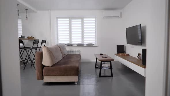 Stylish Modern Living Room Apartments For Rent Tv And Sofa With