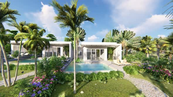 Tropical Garden Swimming Pool Villa by attractordesign ...