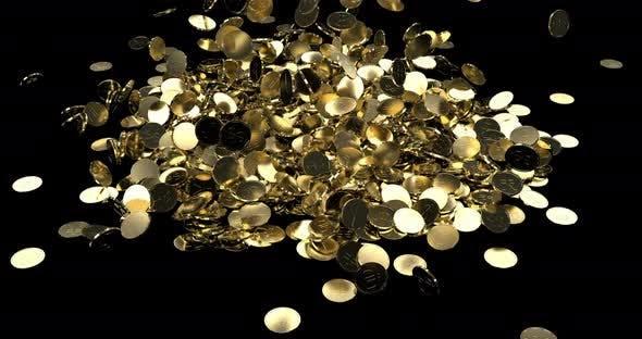 Gold Coins Dollars Yen Euro Fall In A