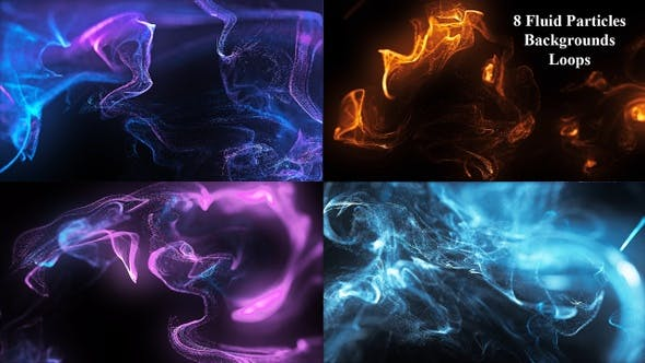 Videohive – Fluid Particles Backgrounds Loops 4K 30441803