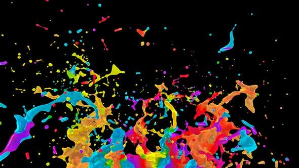 Colorful Water Splash 4 by MiniMultik | VideoHive