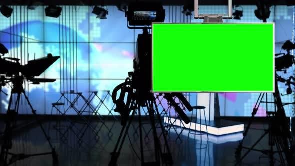 News Studio 9 - Virtual Green Screen News Background Loop by