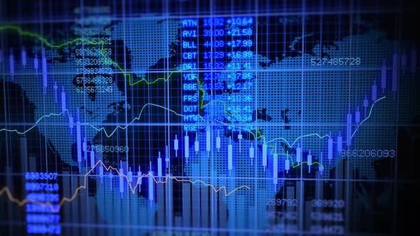 Stock Market Exchange Data Investment Profits Infographic