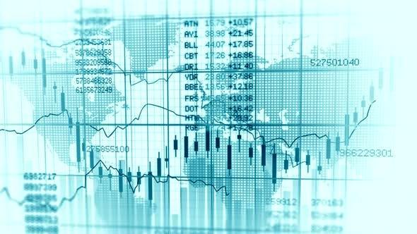 Stock Market Exchange Data Investment Infographic Background